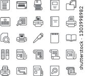 thin line icon set   book... | Shutterstock .eps vector #1303998982