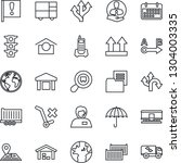 thin line icon set   route... | Shutterstock .eps vector #1304003335