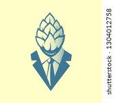 hop head pop art style label ... | Shutterstock .eps vector #1304012758