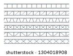 steel truss girder realistic... | Shutterstock .eps vector #1304018908