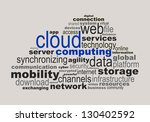 cloud computing concept made... | Shutterstock .eps vector #130402592