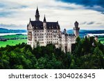 neuschwanstein castle in... | Shutterstock . vector #1304026345