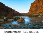 view of the colorado river from ... | Shutterstock . vector #130403216