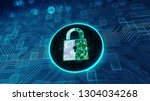 data protection cyber security... | Shutterstock . vector #1304034268