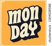 retro week day poster ...   Shutterstock .eps vector #1304038588