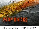 spice. turmeric  paprika  black ... | Shutterstock . vector #1304049712