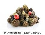 spice. allspice  black  white ... | Shutterstock . vector #1304050492