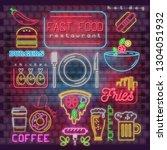 modern urban design of neon... | Shutterstock .eps vector #1304051932