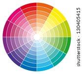 color wheel. vector... | Shutterstock .eps vector #130405415