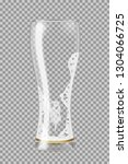 tall beer glass with lager beer ... | Shutterstock .eps vector #1304066725
