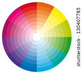 color wheel with shade of... | Shutterstock . vector #130407785