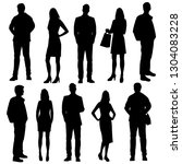 set of vector silhouettes of ... | Shutterstock .eps vector #1304083228