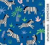 seamless pattern with funny... | Shutterstock .eps vector #1304092288