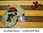 different tasty natural... | Shutterstock . vector #1304109562
