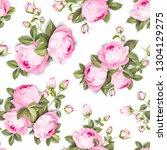 the rose seamless background.... | Shutterstock .eps vector #1304129275