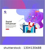 social influencer design vector ...