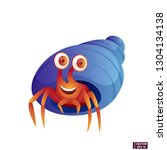 vector image. cartoon character ... | Shutterstock .eps vector #1304134138