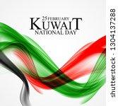 25 february  kuwait national... | Shutterstock .eps vector #1304137288
