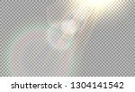 the effect of a flash of light  ... | Shutterstock .eps vector #1304141542