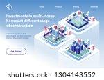 multi storey houses... | Shutterstock .eps vector #1304143552