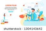 webinar and online education... | Shutterstock .eps vector #1304143642