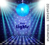 disco lights background with... | Shutterstock .eps vector #1304149102