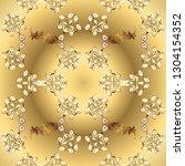 golden color seamless... | Shutterstock .eps vector #1304154352