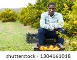 portrait of upset afro man... | Shutterstock . vector #1304161018