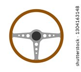steering wheel retro car icon... | Shutterstock .eps vector #1304163148