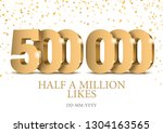 anniversary or event 500000.... | Shutterstock .eps vector #1304163565