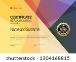 certificate template. diploma... | Shutterstock .eps vector #1304168815