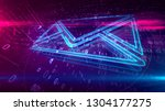 e mail communications in... | Shutterstock . vector #1304177275