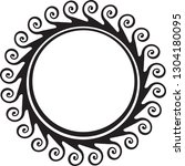 decorative round frame for your ... | Shutterstock .eps vector #1304180095