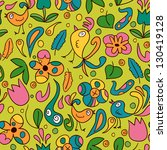 colorful seamless pattern with... | Shutterstock .eps vector #130419128