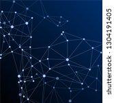 block chain global network...   Shutterstock .eps vector #1304191405