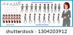 business woman character model... | Shutterstock .eps vector #1304203912