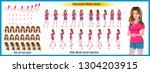 young girl character model... | Shutterstock .eps vector #1304203915