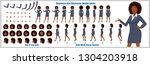 business woman character model... | Shutterstock .eps vector #1304203918