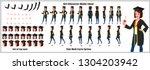 student character model sheet... | Shutterstock .eps vector #1304203942