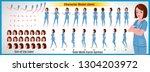doctor character model sheet... | Shutterstock .eps vector #1304203972