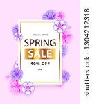 spring sale typography flyer...   Shutterstock .eps vector #1304212318