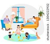 family environment. family... | Shutterstock . vector #1304222932