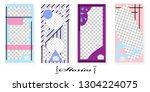 set of trendy templates for... | Shutterstock .eps vector #1304224075