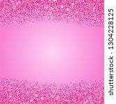pink glitter texture border....   Shutterstock .eps vector #1304228125