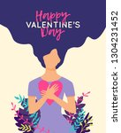 vector happy valentine's day... | Shutterstock .eps vector #1304231452