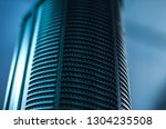 digital condencer microphone... | Shutterstock . vector #1304235508