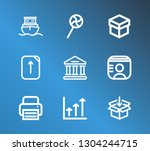 package icon set and university ...