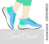 fashion vector illustration of... | Shutterstock .eps vector #1304248015