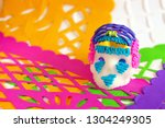 traditional sugar skull on... | Shutterstock . vector #1304249305