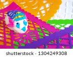 traditional sugar skull on... | Shutterstock . vector #1304249308